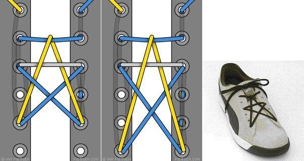Как завязать шнурки на кедах с 5 дырками